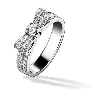 Bowknot Pave CZ Sterling Silver Vintage Rings for Ladies YCR2900