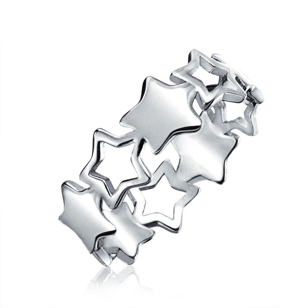 Christmas Sterling Silver Simply Star Rings YCR1882