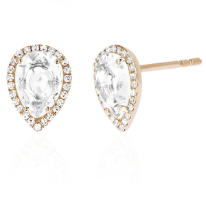 925 Silver Cubic Zircon Teardrop Shape Stud Earrings YCE2577