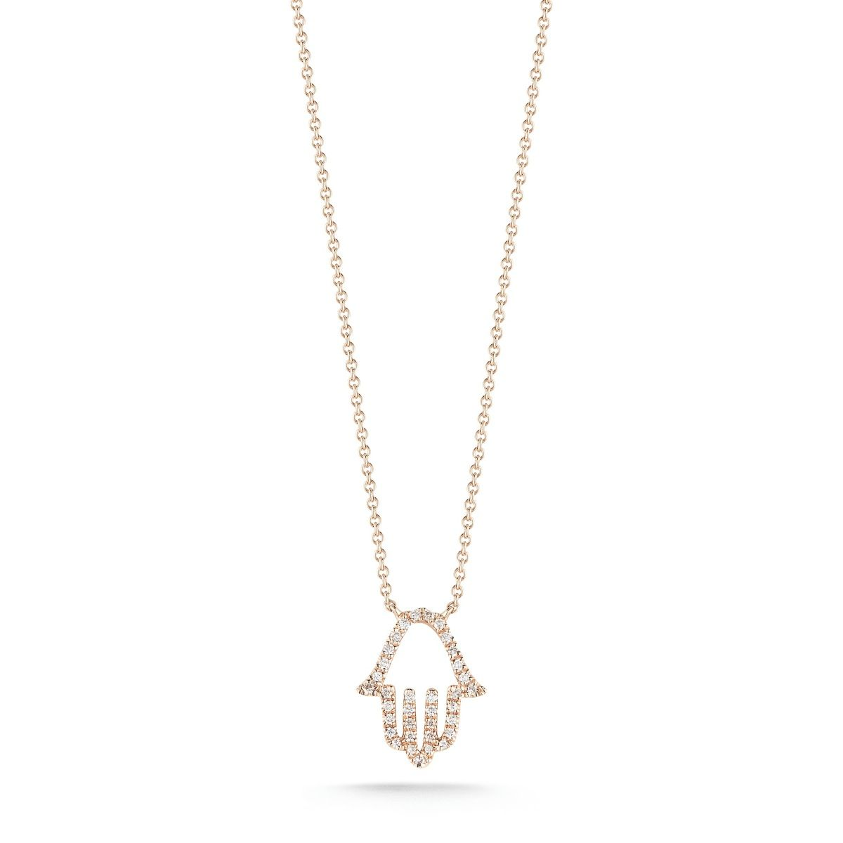 Solid Pave Hamsa Necklace Jewelry for Women YCN6891