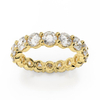 Stackable Classic Eternity Band Ring Jewelry for 925 Sterliing Silver